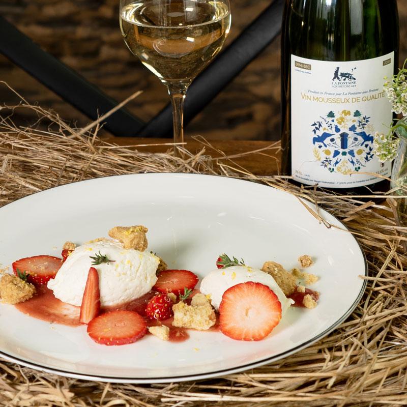 Restaurant Les tables de la Fontaine - Dessert fruits